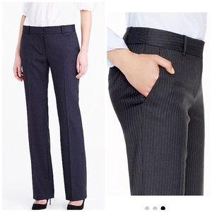 J. Crew | 2 | 1035 pinstripe super 120s wool pants